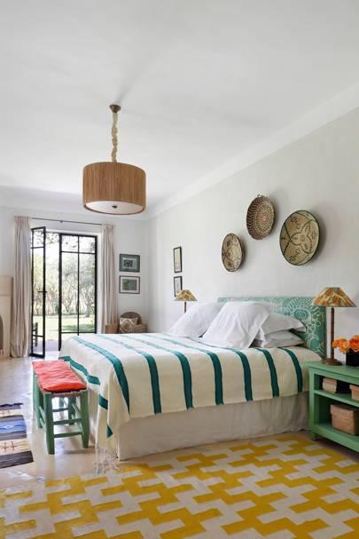 Yellow Rug Bedroom - Moroccan House