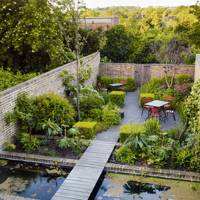 Walled Garden with Water Pools