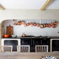 Modern Country Kitchen with Black Aga