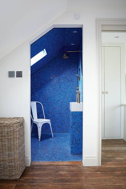 Modern Electric Blue Bathroom