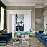 Green & Blue Living Room