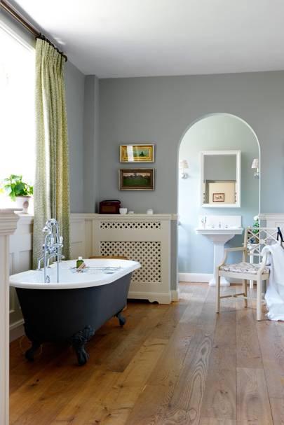 En suite bathroom with freestanding bath