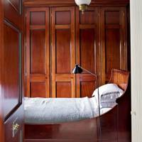 Wooden Built-In Wardrobe & Matching Bed Panelling