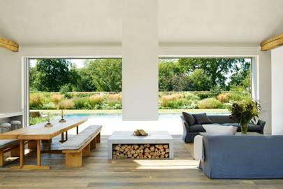 Attractive The Furnishings In This Pool House Are Elegant And Pared Back, As Is  Demonstrated By The Living Area. Rose Has Made The Most Of Natural  Materials And Has ...