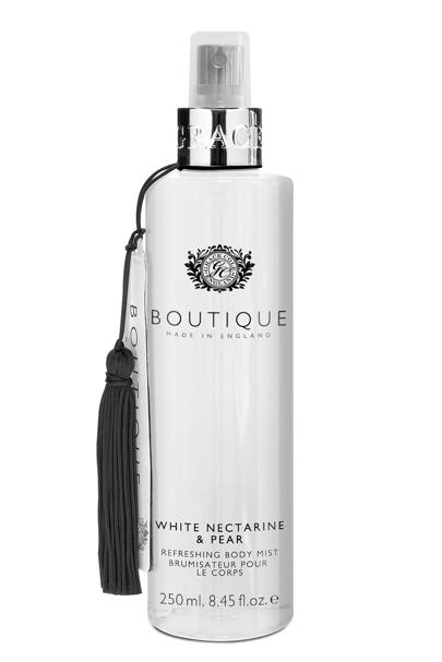 August 13: Boutique White Nectarine and Pear Body Mist, £6