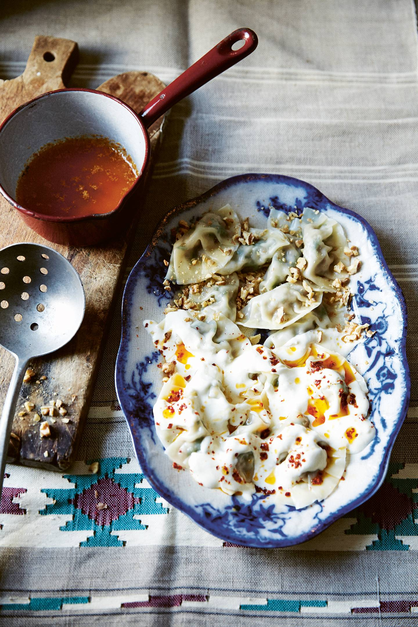 Half and half Turkish manti
