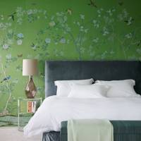 Green de Gournay Wallpaper