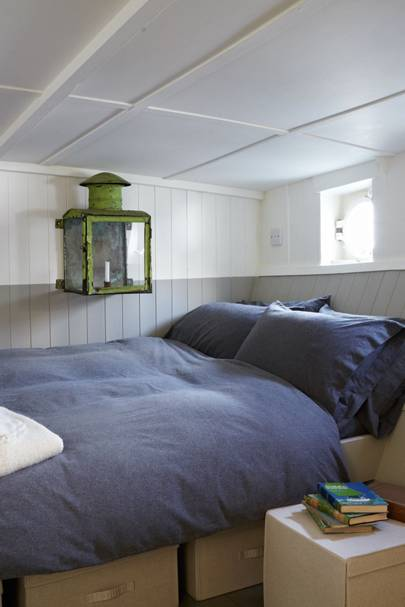 Small white and grey bedroom