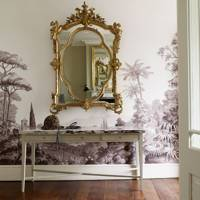 Traditional trompe l'oeil hallway