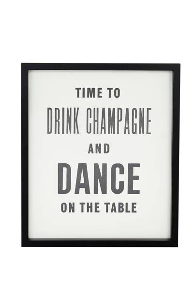 January 26: The White Company Time To Drink Champagne Poster, £45