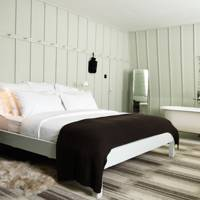 Pale Green Panelled Bedroom