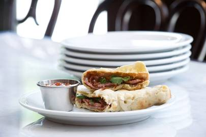 Bacon Naan Roll at Dishoom