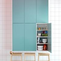 Colourful Kitchen Shelves