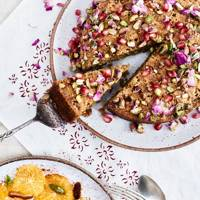 Almond, pistachio and orange blossom cake
