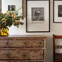 Hallway with framed photographic prints