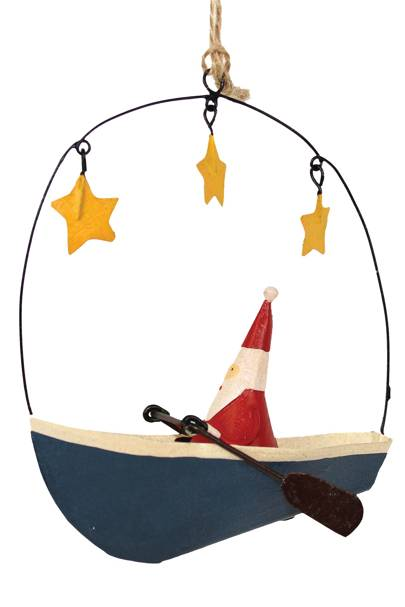 Santa Rowing Boat