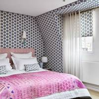Patterned Linen walls