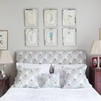 Traditional Grey Bedroom With Headboard