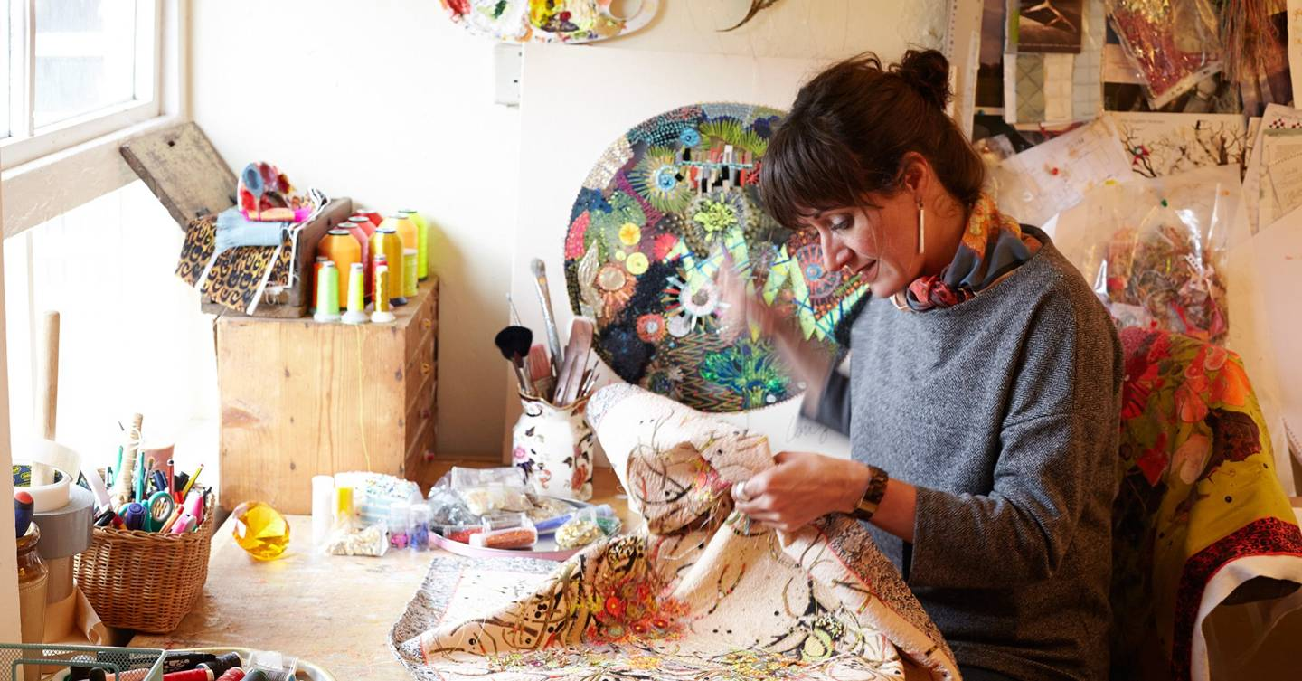 Louise Gardiner's exhibition of embroidered artworks ... | 1440 x 753 jpeg 154kB