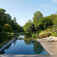 Country Garden Infinity Pool with Decking