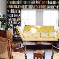 A book lover's living room