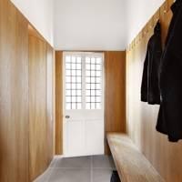Wood-panelled hallway