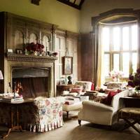 Traditional Living Area with Chintz Sofa