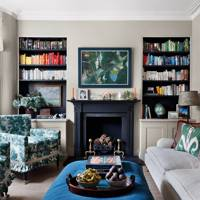 Sitting Room with Pattern Accents | Living Room Design Ideas