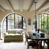 Open Plan Living Space with Arched Windows