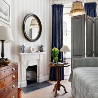 Bedroom with Fireplace - The London Home of Wendy Nicholls