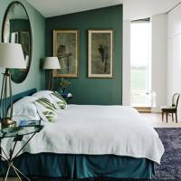Modern Bedroom Teal Walls
