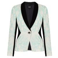 Floral Jacquard Panelled Jacket