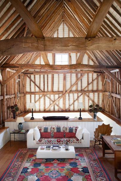 Barn Living Room Decorating Ideas: Country Living Room Ideas