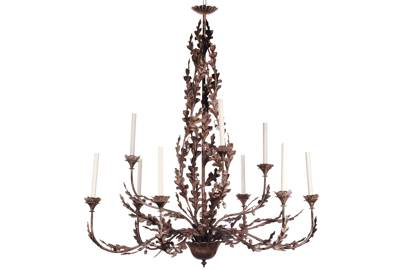 Oak Leaf and Acorn Chandelier