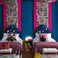 Colourful Kids Bedroom at Christmas