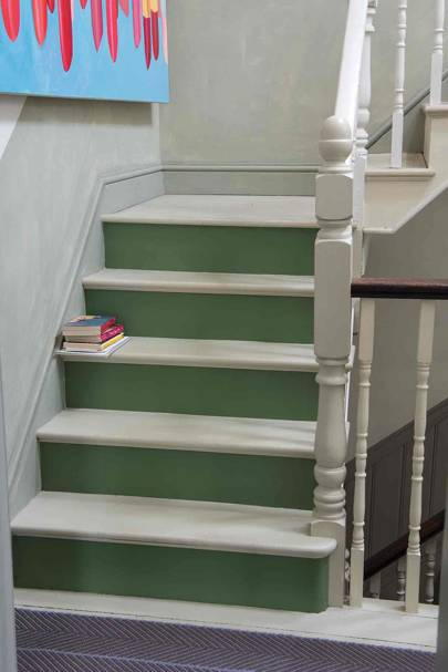 Green Paint Staircase
