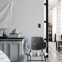 Bedroom Seating - At Home: Calm Brooklyn Apartment | Real Homes
