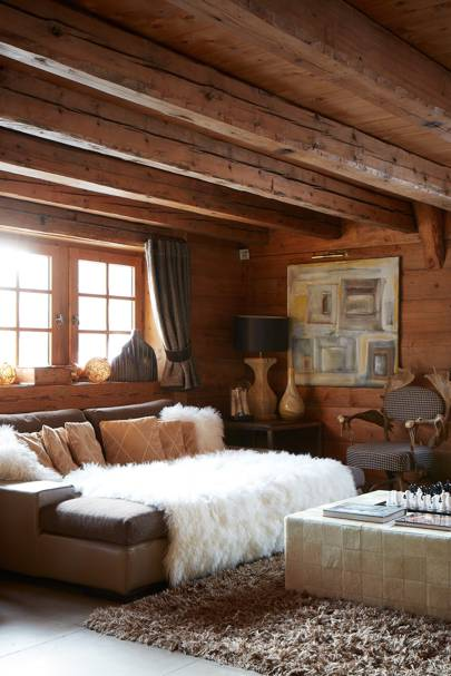 Rustic Living Room with Low Beams