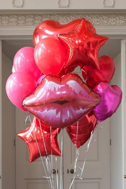 Red Crazy Party Foil Balloon Pack