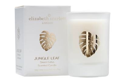 July 8: Elizabeth Scarlett Mini Jungle Leaf Green Lotus Candle, £12
