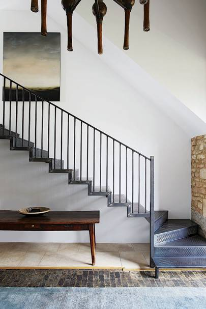 Metal Stairs - Cotswolds Barn