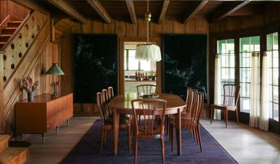 'If Wes Anderson bought a chalet and Yves St. Laurent came to stay' was the starting point for this Californian cottage