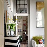 Mirror Above Door To Increase Ceiling Height - Small Spaces Ideas