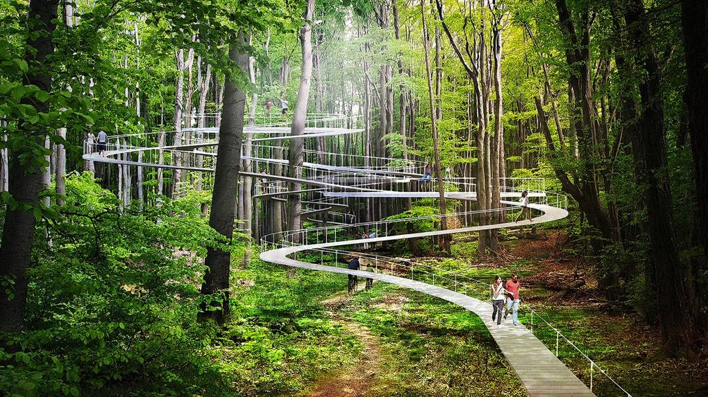 Parks of the future may include elevated walkways through trees