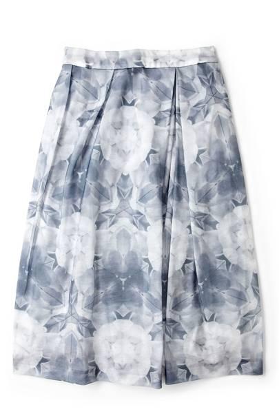 Kaleidoscope Floral-Printed Skirt