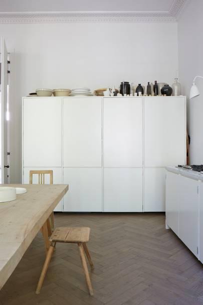 Kitchen Storage - Anna Valentine's Bright London Flat