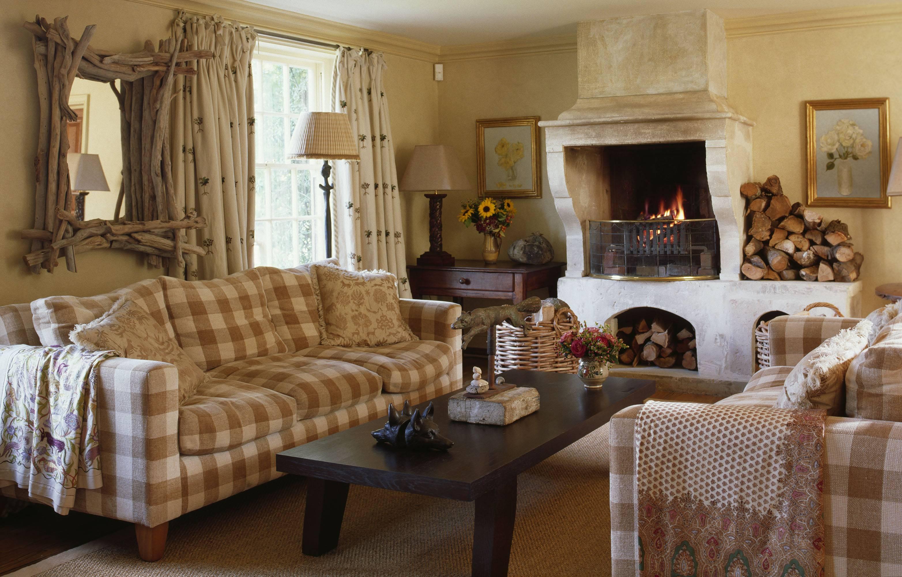 Cottage Interior Design House Garden, Cottage Living Room