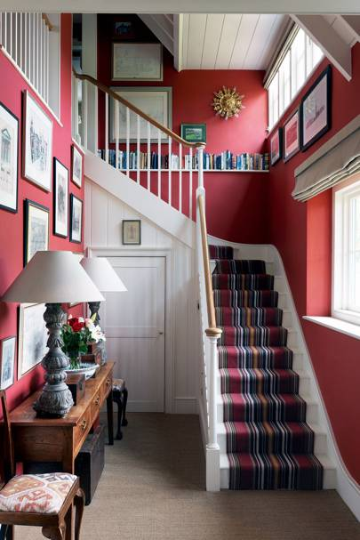 Retro Striped Wool Stair Carpet