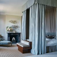 Four-Poster Bed with Silk Canopy