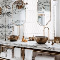 Arabescato Marble Bathroom